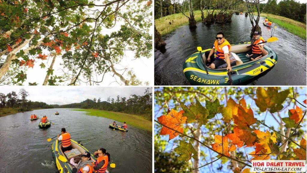 Tour chèo thuyền khám phá hồ tuyền lâm
