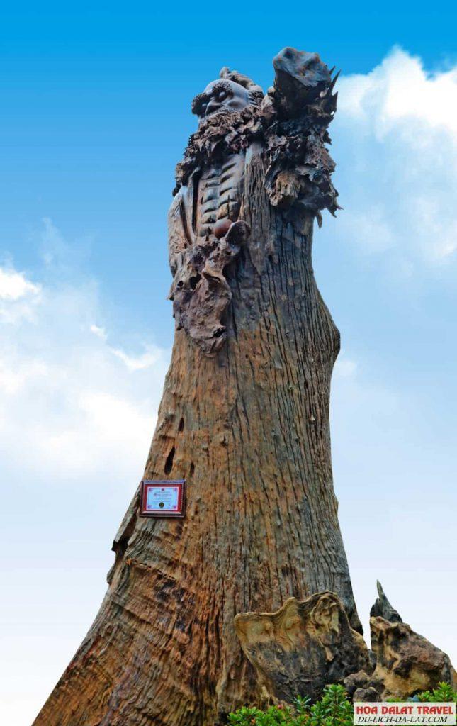 Tượng Bồ Đề Đạt Ma bằng gỗ lớn nhất Việt Nam