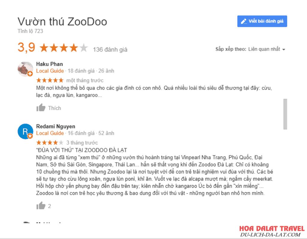Zoodoo Đà Lạt review